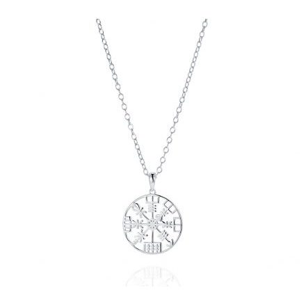 Direction Symbol Sterling Silver Necklace With 2cm Charm.