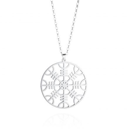 Helm of Awe Sterling Silver Necklace