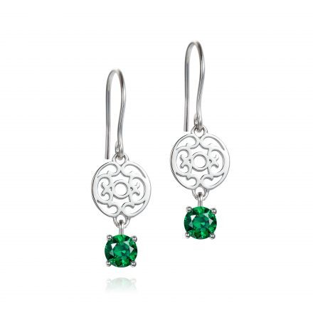 Emerald Green Zirconia Drop Earrings