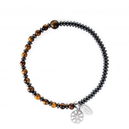 Helm Of Awe Tiger Eye Bead Bracelet