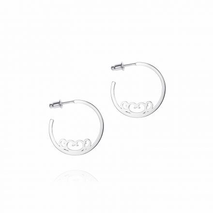 Baron Sterling Silver Hoops