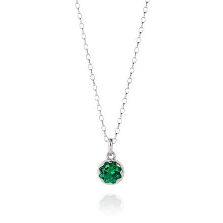 Pendant With Emerald Green Coloured Zirconia Stone