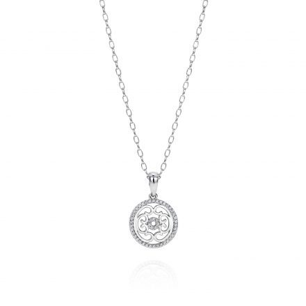 Sterling Silver Pendant With Zirconia Stones