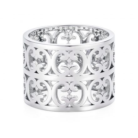 Sterling Silver Double Baron Pattern Ring