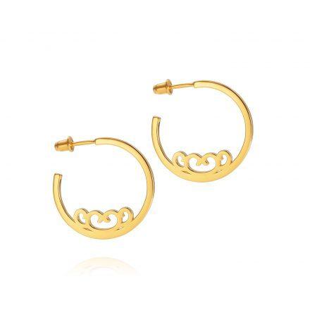 Baron Medium Hoops – 18K Gold Plated