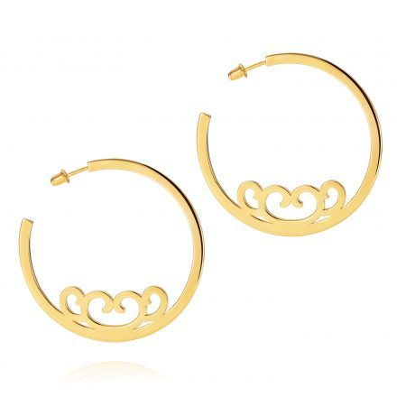 Baron Large Hoops – 18K Gold Plated