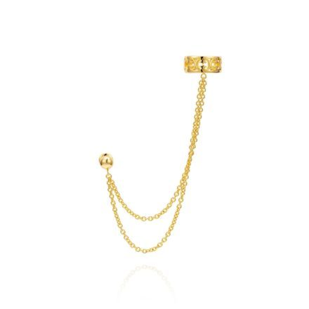 Baron Ear Cuff With Chains – 18K Gold Plated