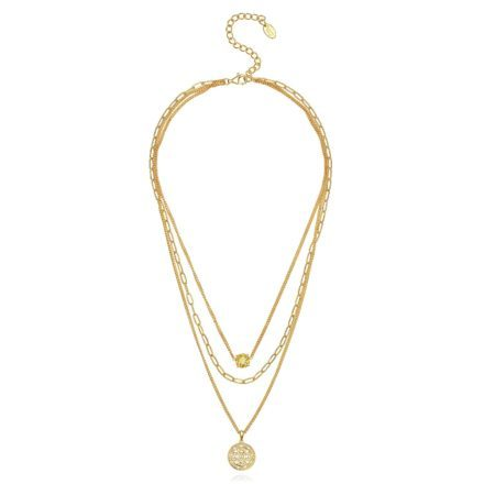 Baron Triple Necklace – 18K Gold Plated